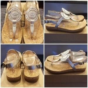 UGG Ayden II Metallic Gold Sandal NWB